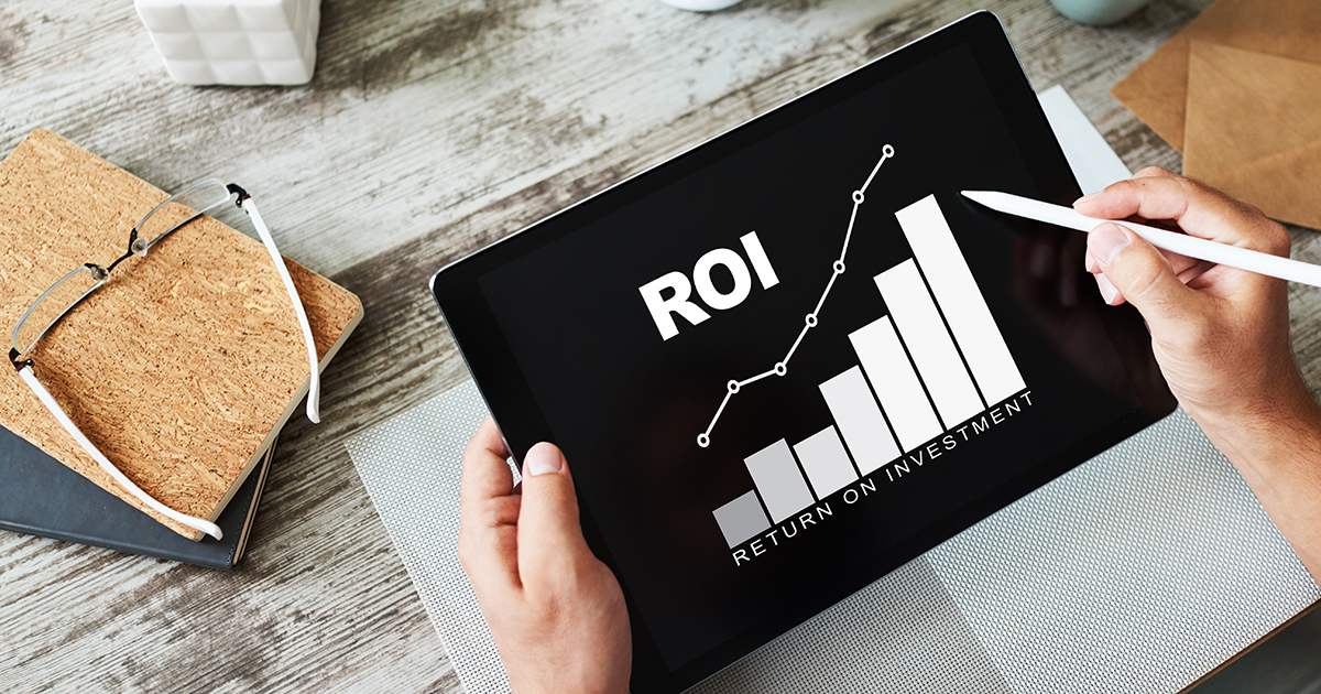 ROI, Return on investment, Business and financial concept., real estate investment
